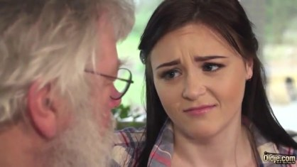 Grandfather gets on his dignity naughty granddaughter