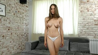 Young Russian bitch with big Tits came to tear hymen porn casting