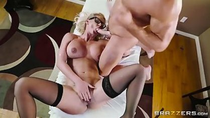 Horny nurse forced the girl and fucked her husband