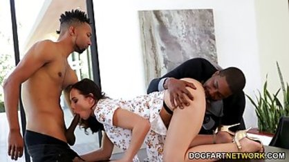 Two black friend fucked insatiable skin College