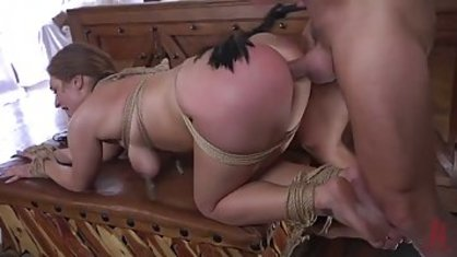 Dude Fucks Mature woman tied arms in hard BDSM porn