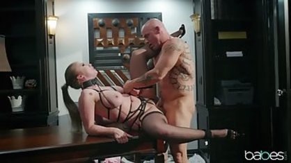 Strict boss hard Fucks his Busty Secretary on the office table