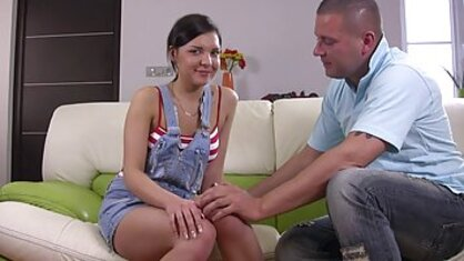 Persistent man licked the crotch of the young Russian girls and put an end to
