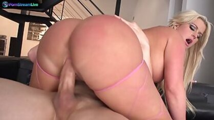 A buxom lady with a large line got a dick in her pussy and a lot of pleasure